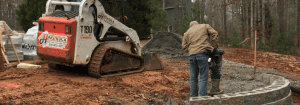 Image: Construction of a hardscape - Hardrock Scapes Construction Company
